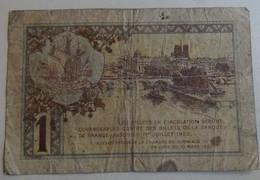 Billet 1 Franc Chambre De Commerce De Paris - (2) - France