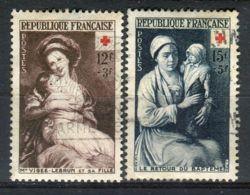 FRANCE ( POSTE ) : Y&T  N°  966/967  TIMBRE  BIEN  OBLITERE . - France
