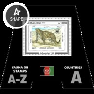 Sierra Leone 2019, Animals, WWF, Stamps On Stamps, Leopard, BF - Félins