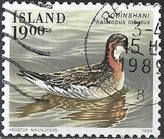 ICELAND 1989 Birds - 19k - Red-necked Phalarope FU - 1944-... Republique