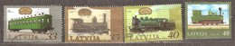 Latvia: Selection Of 4 Used Stamps, Trains, Issued In 2001, 2009, 2010, 2011. - Latvia