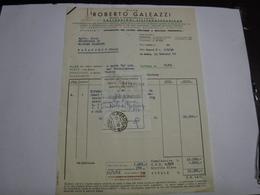 LA SPEZIA  ---  DITTA ROIBERTO  GALEAZZI   -- COSTRUZIONI  ELETTROMECCANICHE - Italie