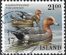 ICELAND 1990 Birds - 21k - European Wigeons FU - 1944-... Republique
