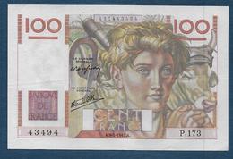 Billet 100 F  Jeune Paysan Du 9 - 1 - 1947 - 1871-1952 Antichi Franchi Circolanti Nel XX Secolo