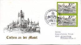 """BRD Schmuck-FDC  """"Cochem An Der Mosel"""", Mi.2x 649 ESSt 21.9.1970 COCHEM - [7] République Fédérale"""