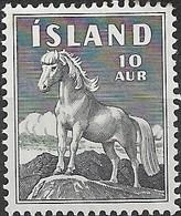 ICELAND 1958 Icelandic Pony - 10a - Black MH - 1944-... Republique
