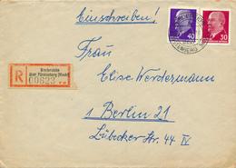 BREDEREICHE über Fürstenberg  - 1965 , R-Brief Nach Berlin - DDR