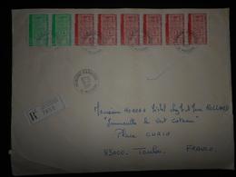 Andorre Français , Lettre Recommande De La Massana 1987 Pour Toulon - Andorre Français