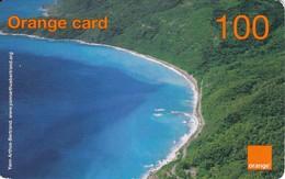 TARJETA DE LA REPUBLICA DOMINICANA  DE 100 UNITS DE ORANGE CARD (PAISAJE Y PLAYA) - Dominicana