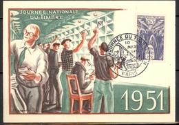 France: Carte Maximum; Journée Du Timbre 1951; PETIT PRIX; A PROFITER!!! - 1950-59