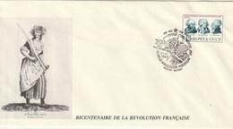 Commémoration Bicentenaire De La Revolution Francaise (Russie Et France) FDC - Révolution Française