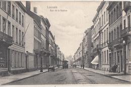 Leuven - Statiestraat - Geanimeerd - Tram - 1907 - Leuven