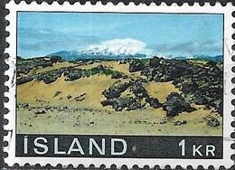 ICELAND 1970 Landscapes - 1k - Snaefellsjokull FU - 1944-... Republique