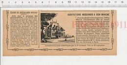 2 Scans Presse 1909 Publicité Maison Pavillon Moderne Foras Architecte Rue De Rennes Paris Tableau Peinture Greuze  226L - Oude Documenten
