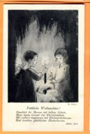 SPR083, Joyeux Noël, Enfants, Bougie, M. Goetz, 104, édit. J. Henke Zürich, 1231, Circulée Sous Enveloppe - Natale
