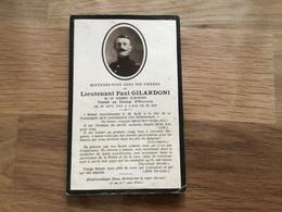 Avis De Décès D'un Lieutenant Du 10°RI Blesse A Giriviller  Et Mort à Moriville Bataille De La Trouée De Charmes 1914 - 1914-18