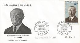 Niger 1967 Niamey Chancellor Konrad Adenauer FDC Cover - Niger (1960-...)