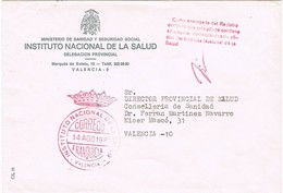 32531. Carta VALENCIA 1981. Franquicia Instituto Nacional De La Salud - 1931-Hoy: 2ª República - ... Juan Carlos I