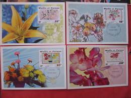 4 Cartes Premier Jour - FLEURS - MATA UTU - 31 Mai 2001 - Illustrateur : ANDREOTTO - Wallis Et Futuna