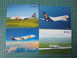 Lotto 4 Cards MIAT Mongolian Airlines B737-MAX B767 - B737 ISSUE - 1946-....: Era Moderna