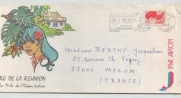 FRANCE ENVELOPPE DU 17 AOUT 1985 DE SAINT PAUL REUNION POUR MELUN - France