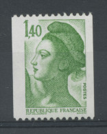 FRANCE -  1F40 Vert LIBERTÉ N° ROUGE AU DOS -  N° Yvert 2191a** - 1982-90 Vrijheid Van Gandon
