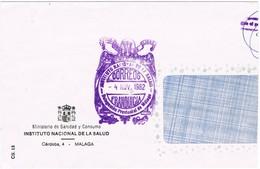 32536. Carta MALAGA 1982. Franquicia Instituto Nacional Salud - 1931-Hoy: 2ª República - ... Juan Carlos I