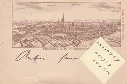 STASBOURG / STRAFZBURG  - Carte Précurseur De 1895 à Destination De New York   ( Très Rare ) - Strasbourg