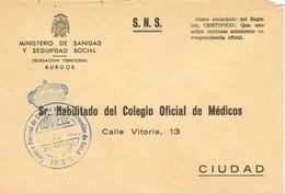 32537. Carta BURGOS 1982. Franquicia SALUD, Consejo General Castilla Y Leon - 1931-Hoy: 2ª República - ... Juan Carlos I