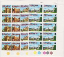 Gibraltar 1978 Royal Residences 4v Bl Of 10 ** Mnh (42513) - Gibraltar