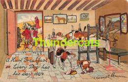 CPA LITHO ILLUSTRATEUR O ANDERS  LA CHASSE CHIEN LITHO CARD HUNT HUNTING DOG HORSE - Hunting