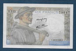 Billet 10 F  Mineur Du 26 - 9 - 1946 - 10 F 1941-1949 ''Mineur''