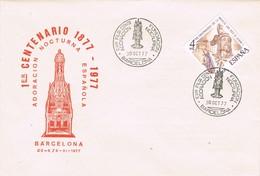 32538. Carta Exposicion BARCELONA 1977. Fundacion Adoracion Nocturna. Silla Martin El Humano - 1931-Hoy: 2ª República - ... Juan Carlos I