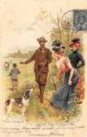 CPA LITHO CHIEN  CHASSE LITHO CARD HUNT HUNTING  DOG - Hunting