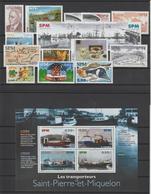 Saint Pierre Et Miquelon Année Complète 2004, 810 à 828 Sauf 819 Et PA 84 - Full Years