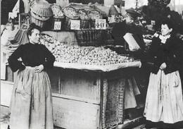 75 - PARIS 1900 - Marchande De Champignons Aux Halles - Carte Animée - Cpm - Vierge - - Petits Métiers à Paris