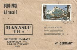 Nepal 1977 Kathmandu German Himalaya Expedition Mount Manaslu Cover - Arrampicata