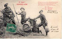 6eme Bataillon De Chasseurs Alpins. Coin Haut Droit Abimé - Regiments