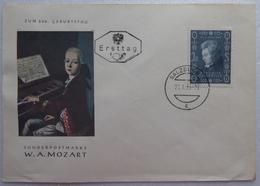 Sonderpostmarke W.A.MOZART -  Lettre - Salzeur 1953 - FDC