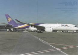 Thai Airways A350-900 HS-THF At Brussels Tailandia - 1946-....: Era Moderna
