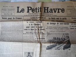Le Havre - Le Petit Havre - Journal - Dimanche 1 Janvier 1939 - B.E N° 20314 - - Journaux - Quotidiens