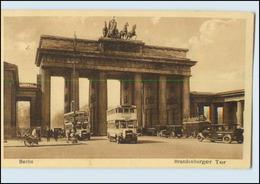 N3153/ Berlin Brandenburger Tor Omnibuss Autos AK 1930 - Spandau