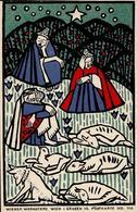 WIENER WERKSTÄTTE 116 - Oskar KOKOSCHKA - Heilige Drei Könige -leider Oben 0,5cm Beschnitten!! - Künstlerkarten