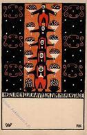Wiener Werkstätte 16 Kalvach, Rudolf II (Abschürfung) - Künstlerkarten
