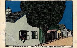 Wiener Werkstätte 22 Hoppe, Emil Erdberg Wöllischgasse II (Abschürfung) - Künstlerkarten