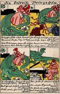 Wiener Werkstätte 515 Jung, Moritz Die Befreite Prinzessin 1913 II (Seitenbug) - Künstlerkarten