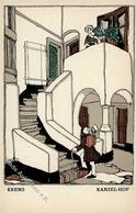 Wiener Werkstätte 716 Schwetz, Karl Krems I- - Künstlerkarten