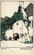 Wiener Werkstätte 723 Schwetz, Karl Wachau Weissenkirchen I- - Künstlerkarten