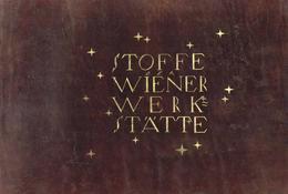 Wiener Werkstätte Firmenschild Aus Leder Der WW Stoffabteilung Entwurf Peche, Dagobert Mit Goldener Aufschrift Und Stern - Künstlerkarten