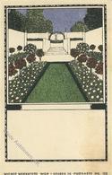 Wiener Werkstätte Nr. 123 Lebisch, Franz Garten II (fleckig) - Künstlerkarten